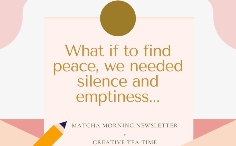 Matcha Morning: Sometimes we do need abreak!